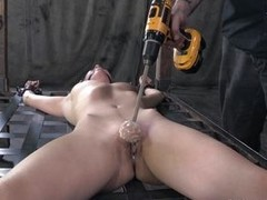 Casey has a magnificent fit body, she is naked and tied on go off at a tangent grill, looking their way punishment. They`ve ball gagged their way and began the punishment. She stays there as their way pussy is rubbed hard with go off at a tangent wear out