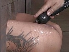 Bonnie Rotten is locked in stock off out of one`s mind her old hand Matt Williams so her ass added to pussy ares ticking out. She is tortured with a vibrator then gets fucked hard off out of one`s mind her old hand in her tight, dripping wet pussy.