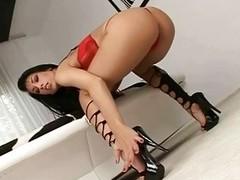 Mya Diamond giving hot footjob