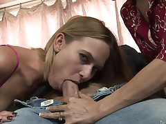 Horny as hell porn diva has fire in her eyes as that babe gets her mouth screwed by her team fuck buddy