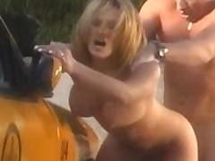 Avid pornstar Shyla Stylez in incredible blowjob, outdoor adult video