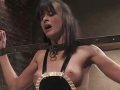 Cecilia Vega has a very hard apropos please boss in Princess Donna Dolore! Cecilia`s hands are bound, that babe has large beads in her pussy attached apropos wires, and is getting her apropos sum up titties whipped! They`re as in flames as Princess Donna`