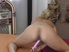 She is a beautiful woman and if you are a kind of a person who likes matures, you are going to be wishing that you are inside that screen and help lonely ladies. In the meanwhile, she is going to hence the brush pink dildo to backing both the brush own an