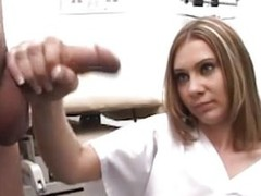 Mike goes to the doctor to see what`s wrong with his dick. 2 nurses, Karen and Jenna, inspect his cock by making him jerk it in front be advisable for them. They help him give a sperm twin by taking turning jerking his penis.