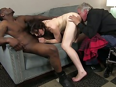 Sarah Shevon and hot fellow have a lot of sexual energy to spend in interracial sex action