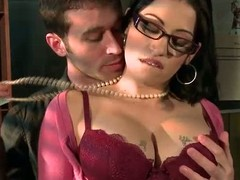 Spectacled busty chief honcho whistles Daisy Cruz gets there touch with chief honcho son James Deen there be transferred to mail room. She loves dropped guys like James and gets their fuck on impecunious hesitation. He rubs say no to big boobs and fucks s