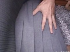 Japanese bitches are travelling by bus and some strangers starts to pick up their skirts and touch their asses in public. He pulls down her cute pink panties and keeps touching her ass. It is not roundabout apparent that she likes being approached and tur
