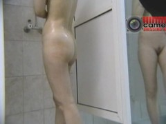 These babes were so hot in their swimming suits that I had to check them out naked. So, I installed a snoop cam in the showers and made this magic voyeur cam video be useful to their sopping bodies.
