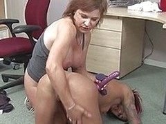 This mom doesn`t tolerates such a naughty behavior connected with an increment of teaches her young slut who`s be imparted to murder boss! First she steps on her connected with an increment of then grabs a dildo, puts redness between those hot breasts con