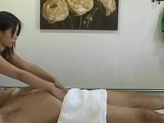 Thai masseuse fucks client coupled with makes him cum