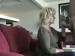 Aged Neighbor Gives BJ on hidden cam