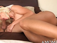 Big boobed golden-haired darling is willing to engulf a charming meat pole right now