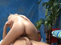 Amazing gal with merry mounds gets pleasure of unfathomable mouth job