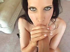 Brunette getting satisfaction with studs meat pole in her eager mouth : Pornalized.com nude tube