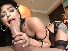 Sadie West has fire in her eyes as she bangs herself with toy