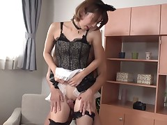 Milf with shaved love tunnel gets her honeypot stretched by dudes sturdy rod