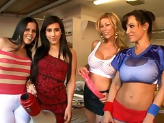Naughty rod gratifying with pretty beauties