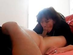 whore granny Karen suck boyfriend Olivier comes