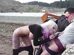 Hot German Teen Seduce to Fuck Outdoor by Stranger