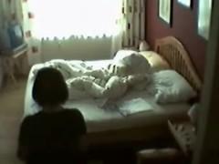 My voiceless in her bedroom masturbating. Hidden cam