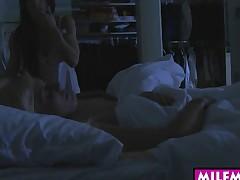 Jenna Moore and Carmen Monet nasty trio in the bedroom