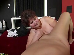 OldNanny awesome BBW granny Hana playing with toys