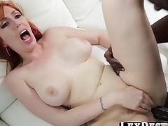 Pale redhead Lauren Phillips acquires fucked