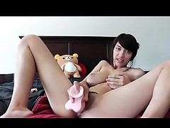 Sexy Oriental girl includes a fresh buddy that is plastic