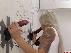 Big Black Cock For Nina Elle At The Famous Glory Hole