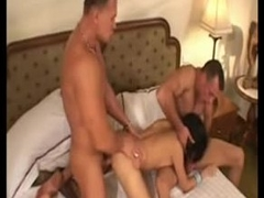 Two guys fuck a Thai hooker take hotel scope