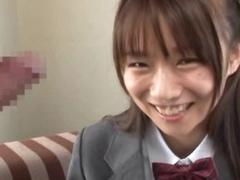 Asuka Hoshino Gives Blowjob Wearing Her School Unchangeable