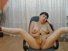 Exotic Asian plays with toy