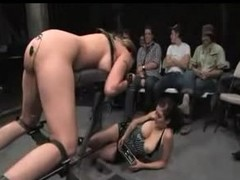 Delilah Unafraid long BDSM scene with an audience