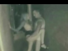Teen couple spycam voyeur outside Leonida from 1fuckdatecom