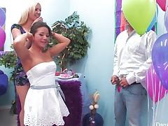 Samantha Saint celebrates her birthday with a wild eager fuckfest