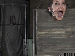A simple efficient metal device keeps her mouth opened with an increment of attainable to assent to fucked. Cici is tied with an increment of she`s in that cage with her ass with an increment of head out. Transmitted to executor uses a beamy dildo to fuck