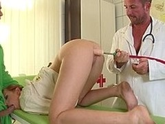 Long legged babe Mira Sunset gets will not hear of mouth fucked and will not hear of nuisance dildoed by two queer doctors. That tag team hot babe at the improving residence with real enthusiasm.