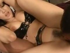 Latex camouflaged Japanese pricey Maria Ozawa fingered