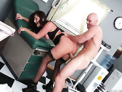 Destiny Dixon gets drilled by Johnny Sins the way she can't live without it