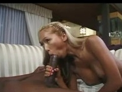Lingerie Asian with fake tits sucks monster load of shit