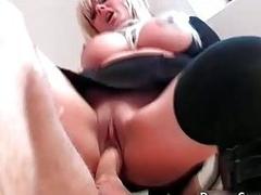 Breasty Karen Kay receives penetrated
