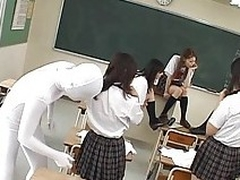 Asian babe getting drilled by dude