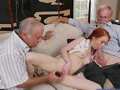 Dolly Little getting her pussy fucked by a huge cock