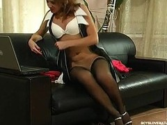 Multi-storey mother i'd like to fuck seducing a dude with her upskirt look getting licked with the addition of stuffed