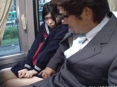 The cute asian schoolgirl got be imparted to murder wrong chair, or perhaps be imparted to murder right one because she is sitting near a pervert. The guy doesn`t cares that be imparted to murder buss is filled with people, he just takes out his dick and
